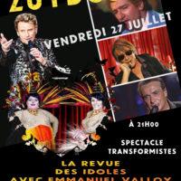 """Cabaret """"La revue des idoles"""""""