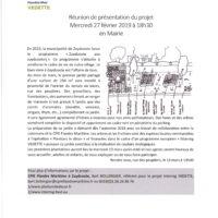 Conférence publique présentation du projet Interreg Vedette