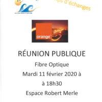 Réunion Publique Fibre Optique