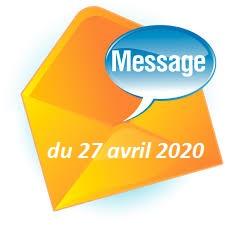 MESSAGE DE MADAME LE MAIRE DU 27 AVRIL