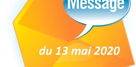 MESSAGE DU MAIRE DU 13 MAI 2020